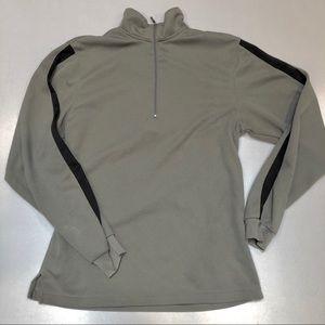 PGA TOUR Men's 1/4 Zip shirt sz S Gray Turtleneck